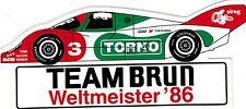 Team Brun Porsche TORNO Nr. 3 Le Mans  Weltmeister  Sticker Aufkleber