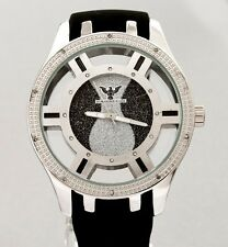 Nautical  Joe King Ice Rodeo 14kt White Gold Color Real Diamond Watch Men/Women
