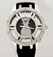 Nautical  Joe King Ice Rodeo 14kt White Gold Color Real Diamond Watch Men/Women