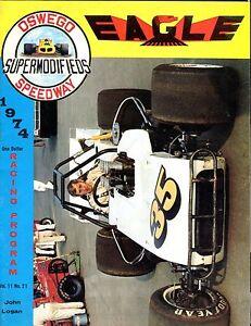 Oswego Speedway 1974 John Logan Racing Program EX 032817nonjhe