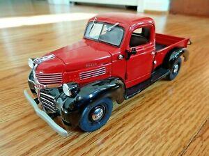 Danbury Mint  1941 Dodge Pickup Truck ~ Red W/ Black Fenders