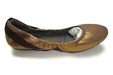 Cole Haan Women's Zerogrand Stagdr Bal Ballet Flat, Bronze Dot Print 7 B US