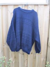 VINTAGE NAVY DARK BLUE SHAGGY MOHAIR WOOL JUMPER 8 10 12 14