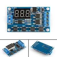 1Pcs Dual MOS Control Cycle Trigger Timer Delay Relay Module Switch LED 24V 12V.