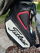 TITELIST TOUR STAFF BAG 9.5 - Golf Bag - 6 Divider - Black White Red - EX TAGS