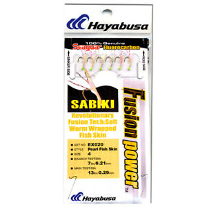 2 pk Hayabusa EX020 Pearl Fish Skin- #3 Fluorocarbon/Mono FREE SHIP on 2nd item