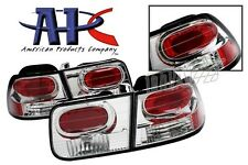 APC EURO TAIL LIGHTS BRAKE LAMPS CLEAR 96-00 HONDA CIVIC 2DR COUPE