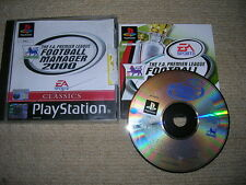 FOOTBALL MANAGER 2000 - Rare Sony Playstation PS1 / PS2 Game