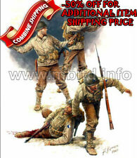 Master Box 3521 WWII US Infantry (3rd July 1944) (4 Figures) plastic kit 1/35