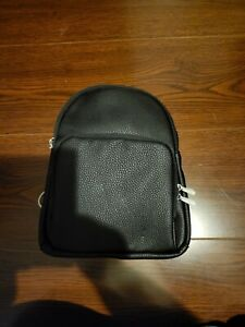 New Thirty-One Festival Mini Backpack Purse Bag In Black Beauty Pebble