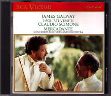James Galway: Mercadante 3 Flute Concerto CD Claudio Scimone I Solisti Veneti
