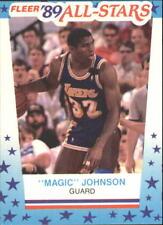 Magic Johnson #5 Fleer Stickers 1989/90 NBA Basketball Card