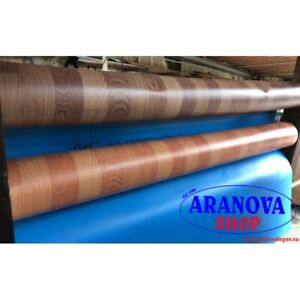 Copripavimento tappeto PVC gomma finto legno parquet H 2 metri