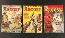 ARGOSY ALL FICTION GOLDEN AGE COMIC BOOK PULP ADVENTURE MAGAZINE LOT 1938 1939