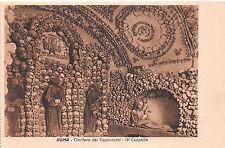 Cartolina - Postcard -  Roma - Cimitero dei Cappuccini - IV Cappella - anni '30