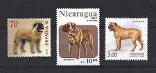 Dog Art & Photo Full Body Portrait Postage Stamp Collection BULLMASTIFF 3 x MNH