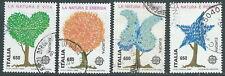 1986 ITALIA USATO EUROPA SALVAGUARDIA NATURA DA BLOCCO - D3-4