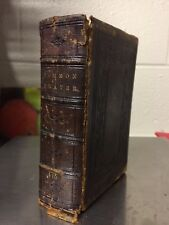 1865 Book Of Common Prayer Antique Book Protestant Episcopal Church Leather