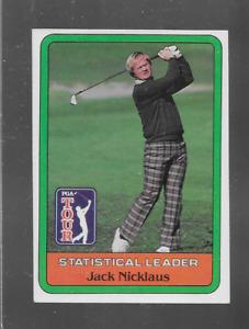 1981 DONRUSS GOLF  JACK NICKLAUS STATISTICAL LEADER ROOKIE NICE CARD