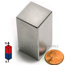 "N45 Neodymium Magnet Block 1x1x2"" NdFeB Rare Earth Magnet 1 PC"