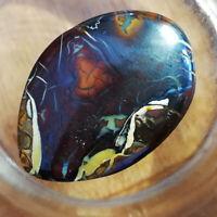 Extraordinary pattern BIG 63.85CT +VID Australian Boulder Opal Polished