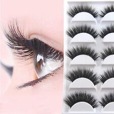 5 Paar Natur Lange Falsche Wimpern Künstliche Augen Wimpern 3D Eyelashes Se W6L4
