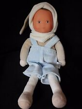 Corolle Baby Boy Blue Plush Doll RARE