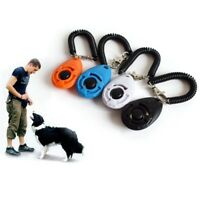 Pet Dog Training Clicker Puppy Cat Button Click Trainer Obedience Aid Wrist Tool