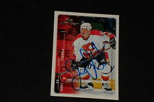 JAROME IGINLA 1998-99 UPPER DECK MVP SIGNED AUTOGRAPHED CARD #34 FLAMES