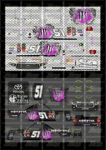 NASCAR 1/24 DECALS KB07 - KYLE BUSCH 2018 FANTASY #51 MONSTER ENERGY