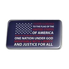 USA Flag Pledge of Allegiance America Rectangle Lapel Hat Pin Tie Tack Pinback