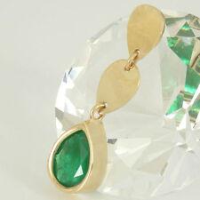Echtschmuck-Halsketten & -Anhänger mit Smaragd und Tropfen für Damen