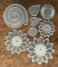 Metal Cutting Dies - LAYERED FLOWERS & LEAVES 8 Pieces (S45)