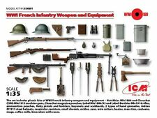 ICM 1/35 WWI French Infantry Weapons & Equipment # 35681