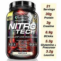 MuscleTech Nitro Tech Performance Series Protein 2 lb (25 Servings) PICK FLAVOR