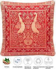 Rot Seide Kisssenbezug | Zierkissenbezug | Handgefertigt aus Indien 40cmx40cm