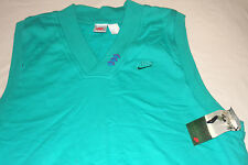 Nike Golf Teal Green Sweater V-Neck Vest Large DEADSTOCK new with tags Gray Tag