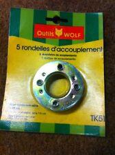 lot de 5 rondelles d'accouplement WOLF TK51 tondeuse T51