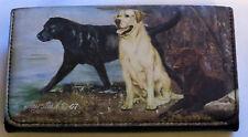 Labs Labrador Retrievers Wallet Dogs Yellow Checkbook Coin Purse Black Chocolate