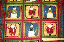 "Wintertime Friends Santa Christmas Panels Teresa Kogut Fabric   23"" Long"