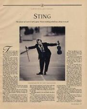 Sting The Police Interview/article mid 80's RS-FDWQ