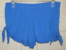 New Womens 2XL 20 Royal Blue Sleep Shorts pajama No Boundaries Rayon