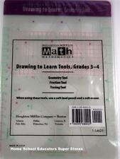HOUGHTON MIFFLIN MATH DRAWING TO LEARN TOOLS GRADES 3-4 GEOMETRY FRACTIONS NEW