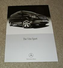 Mercedes Vito Sport Brochure Flyer 2011