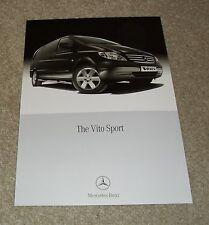Mercedes Vito Sport Brochure Flyer 2011