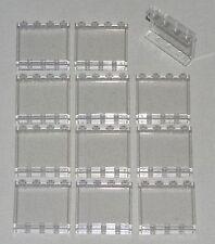 LEGO LOT OF 12 TRANSPARENT CLEAR 1 X 4 X 3 WINDOWS PANELS PARTS