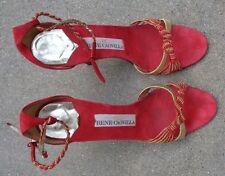 fine Rene Caovilla  womens red leather high heel shoes size 9