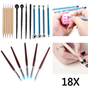 18PC CLAY  CARVING CHISEL TOOL SET CRAFT CLAY SCULPTING ART MODELLING CERAMIC