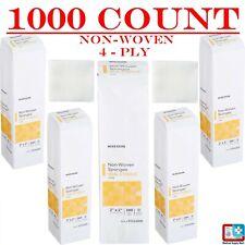1000 2x2 Non Woven 4 Ply Non Sterile Dental Gauze First Aid Medical Gauze