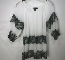 blouse size 10 by INC, black and white